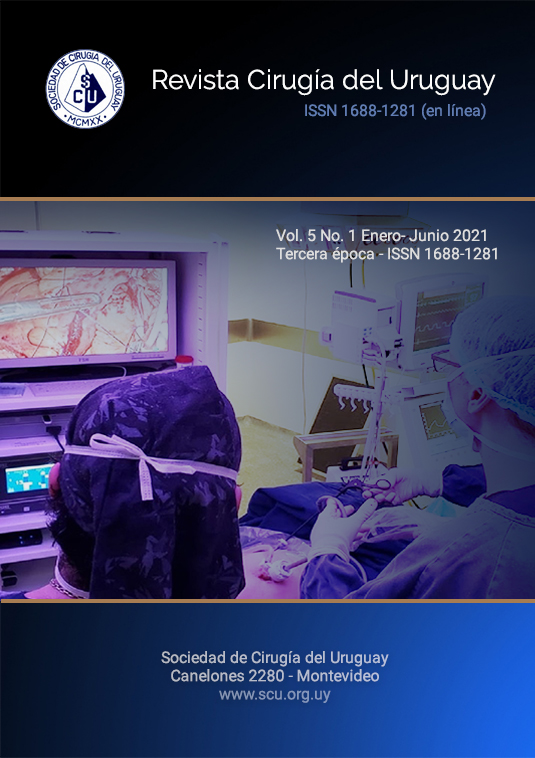 Ver Vol. 5 Núm. 1 (2021): Revista Cirugía del Uruguay