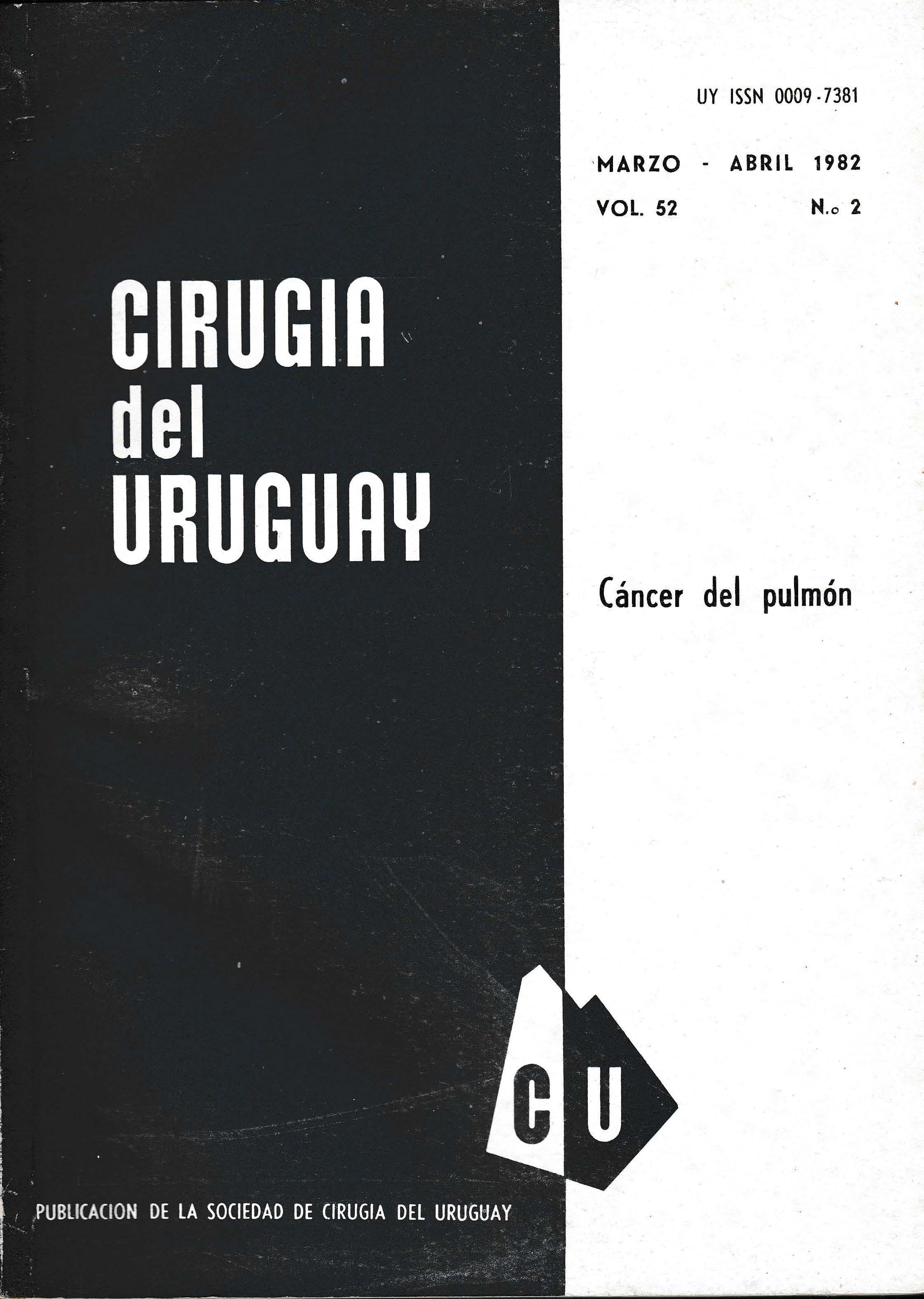 Ver Vol. 52 Núm. 2 (1982): Cirugía del Uruguay