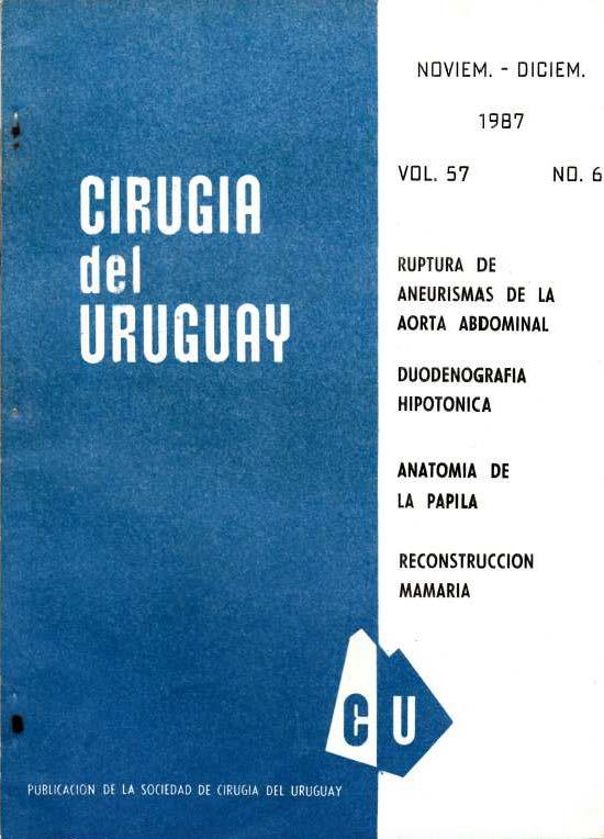 Ver Vol. 57 Núm. 6 (1987): Cirugía del Uruguay