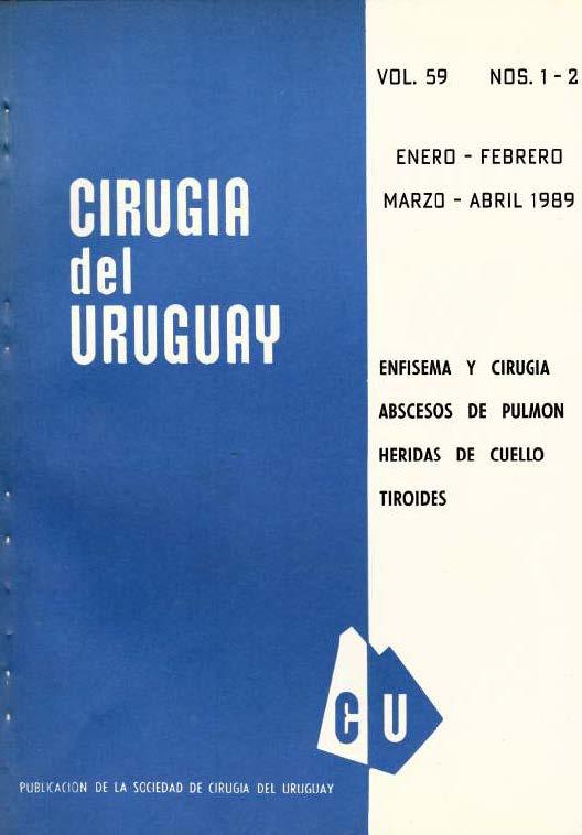 Ver Vol. 59 Núm. 1-2 (1989): Cirugía del Uruguay