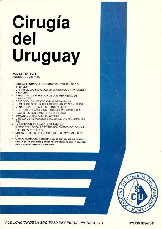 Ver Vol. 62 Núm. 1-2-3 (1992): Cirugía del Uruguay