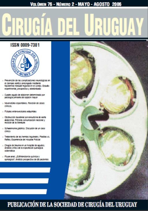 Ver Vol. 76 Núm. 2 (2006): Cirugía del Uruguay